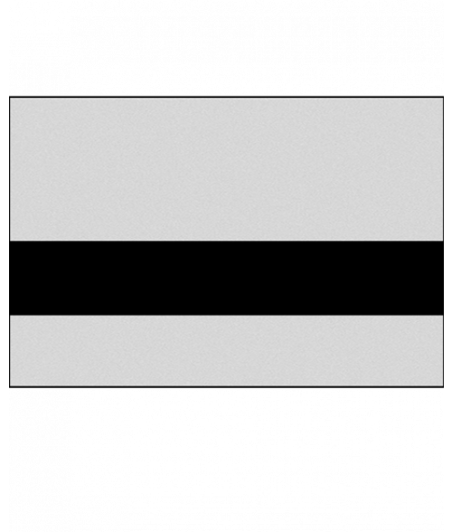 "Rowmark LaserMark Smooth Silver/Black .052"" Engraving Plastic"