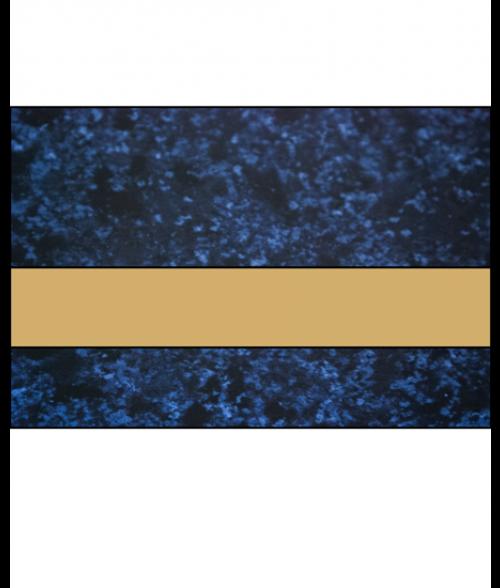 """Rowmark LaserMark Gloss Celestial Blue/Gold .052"""" Engraving Plastic"""