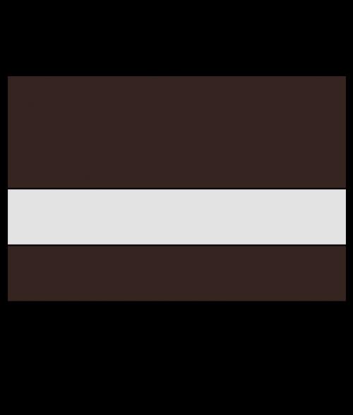 """Rowmark LaserMark Reverse Matte Clear/Dark Brown 1/16"""" Engraving Plastic"""