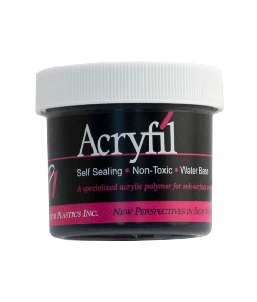 IPI Acryfil Black 2oz Acrylic Paint
