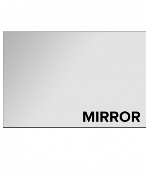 "Clear Mirror 1/8"" Extruded Acrylic"