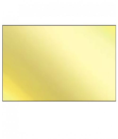 "AlumaMark Mirror Gold .020"" Aluminum Sheet"