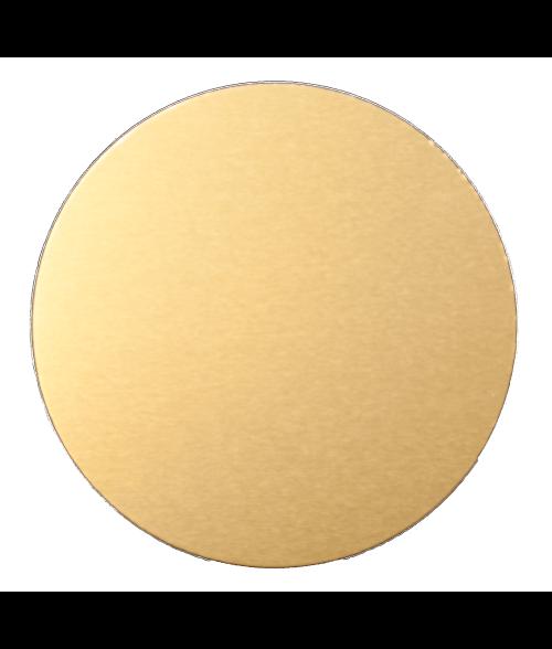"AlumaMark Satin Brass .020 2"" Circle"