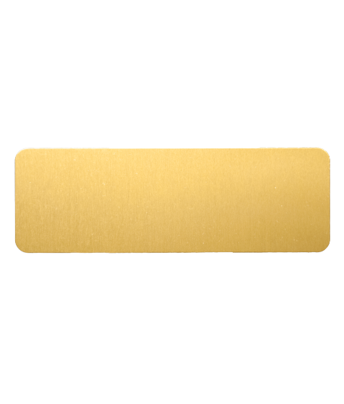 "AlumaMark Satin Brass 1""x3"" Badge"