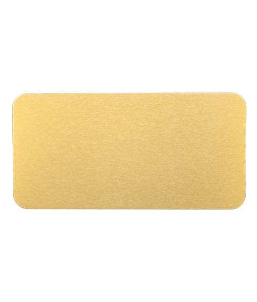 "AlumaMark Satin Brass 1.5""x3"" Badge"