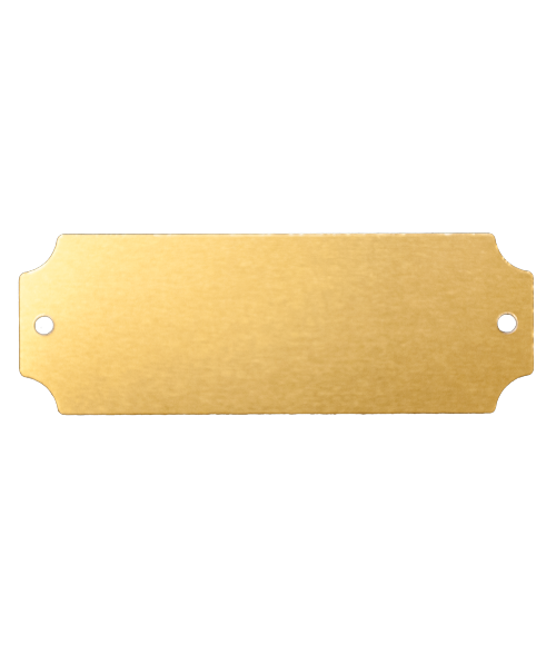 "AlumaMark Satin Brass 1""x2.5"" Plate with Notch"