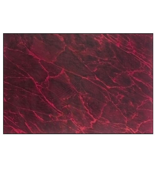 Maroon (Red) Marble .016 Brass Sheet