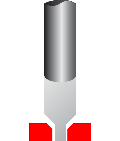"""Antares .060"""" Tip 1/4"""" x 6-1/2"""" Carbide Cutter Beveler for 1/8"""" Thick Material"""