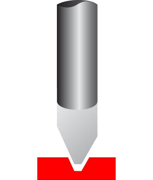 "Antares .125"" Tip 1/4"" x 6-1/2"" Carbide Standard Cutter for Plastic"