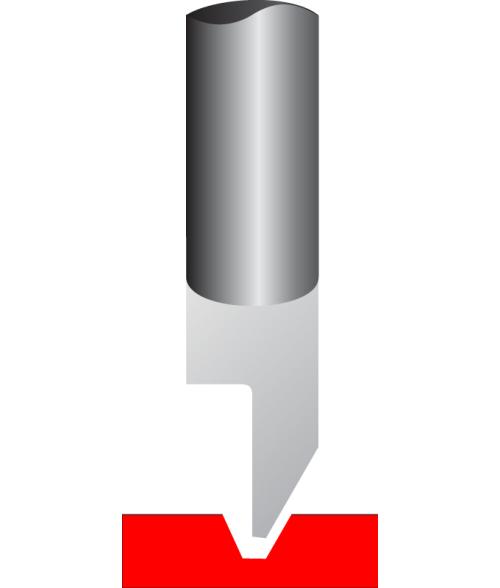 """Antares .015"""" Tip 1/4"""" x 6-1/2"""" Carbide Quarter Round Cutter"""
