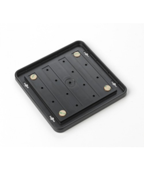 "Rowmark Portico Black Sapphire 8"" x 8"" Round Poly Wall Frame"