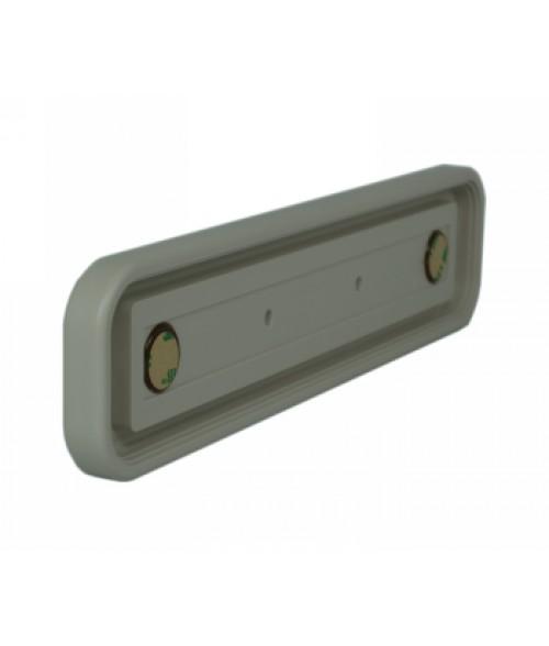 "Rowmark Portico Slate Grey 2"" x 10"" Round Poly Wall Frame"