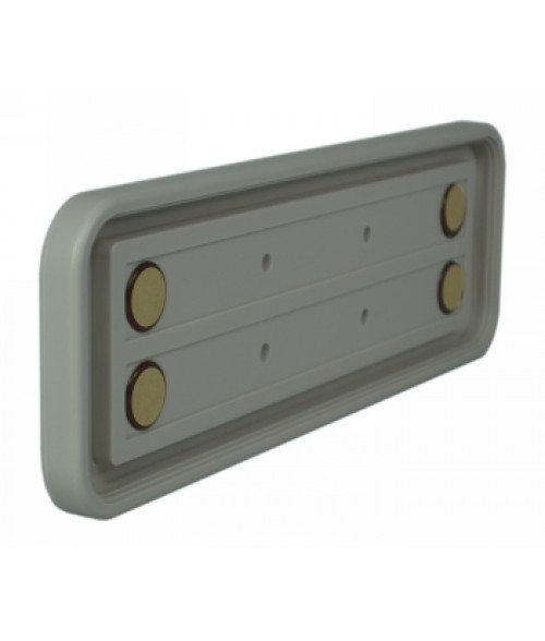 "Rowmark Portico Slate Grey 3"" x 10"" Round Poly Wall Frame"