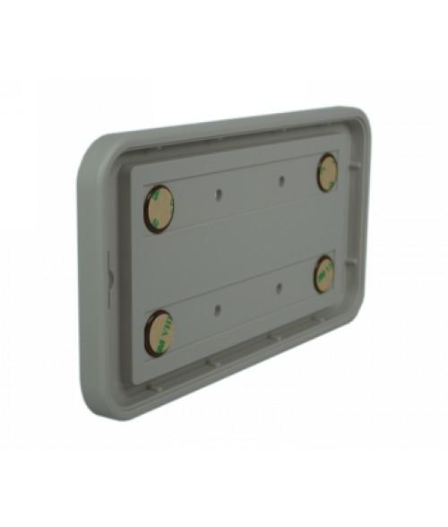 "Rowmark Portico Slate Grey 4"" x 8"" Round Poly Wall Frame"