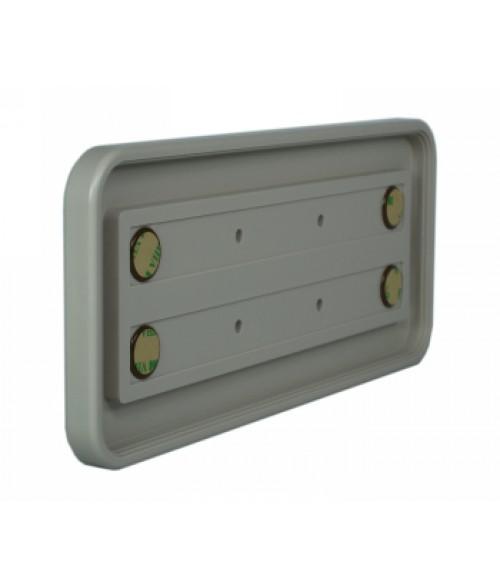"Rowmark Portico Slate Grey 4"" x 10"" Round Poly Wall Frame"