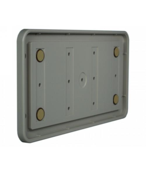 "Rowmark Portico Slate Grey 6"" x 12"" Round Poly Wall Frame"