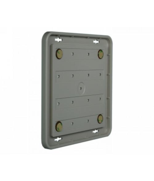 "Rowmark Portico Slate Grey 8"" x 8"" Round Poly Wall Frame"