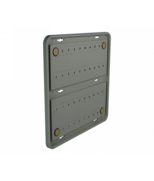 "Rowmark Portico Slate Grey 10"" x 10"" Round Poly Wall Frame"