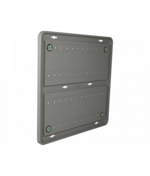 "Rowmark Portico Slate Grey 12"" x 12"" Round Poly Wall Frame"