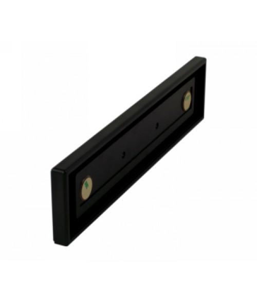"Rowmark Portico Black Sapphire 2"" x 10"" Square Poly Wall Frame"
