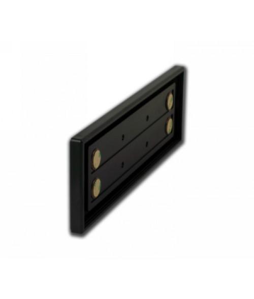 "Rowmark Portico Black Sapphire 3"" x 10"" Square Poly Wall Frame"