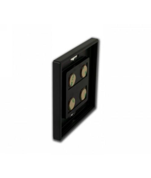 "Rowmark Portico Black Sapphire 4"" x 4"" Square Poly Wall Frame"