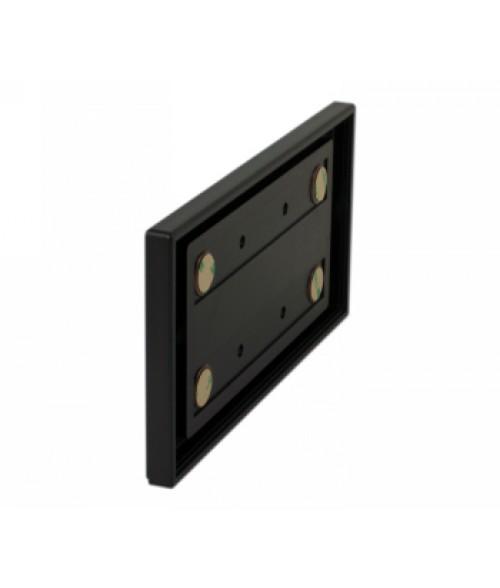 "Rowmark Portico Black Sapphire 4"" x 8"" Square Poly Wall Frame"