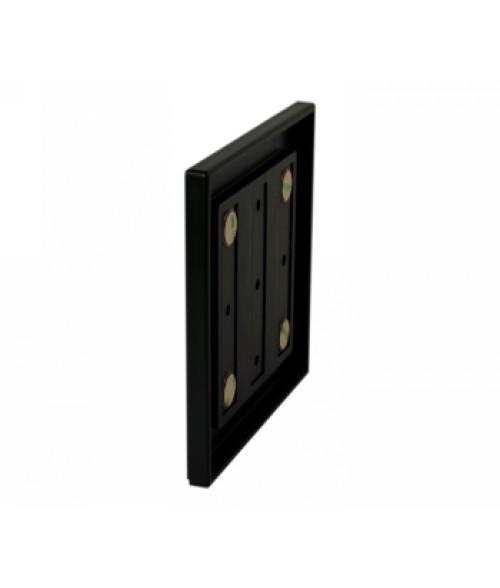 "Rowmark Portico Black Sapphire 6"" x 6"" Square Poly Wall Frame"
