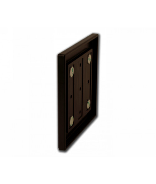 "Rowmark Portico Cocoa 6"" x 6"" Square Poly Wall Frame"