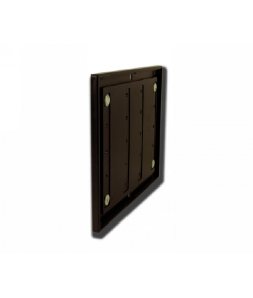 """Rowmark Portico Cocoa 8-1/2"""" x 11"""" Square Poly Wall Frame"""