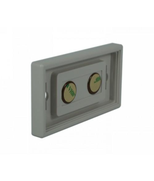 "Rowmark Portico Slate Grey 2"" x 4"" Square Poly Wall Frame"