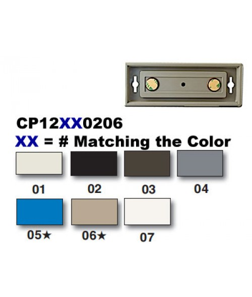 "Rowmark Portico Slate Grey 2"" x 6"" Square Poly Wall Frame"