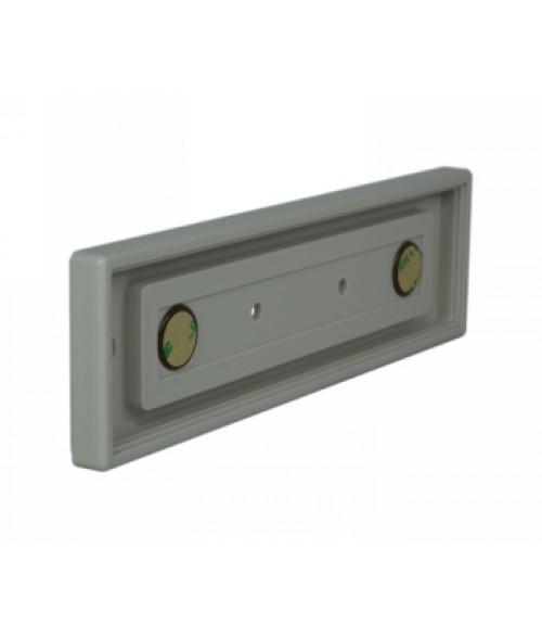 "Rowmark Portico Slate Grey 2"" x 8"" Square Poly Wall Frame"