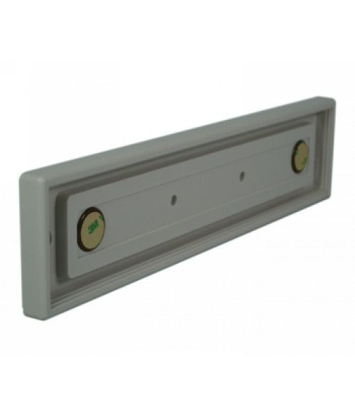 "Rowmark Portico Slate Grey 2"" x 10"" Square Poly Wall Frame"