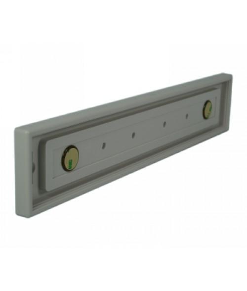"Rowmark Portico Slate Grey 2"" x 12"" Square Poly Wall Frame"