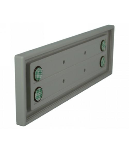 "Rowmark Portico Slate Grey 3"" x 10"" Square Poly Wall Frame"
