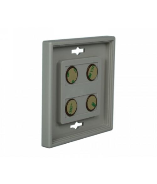 "Rowmark Portico Slate Grey 4"" x 4"" Square Poly Wall Frame"