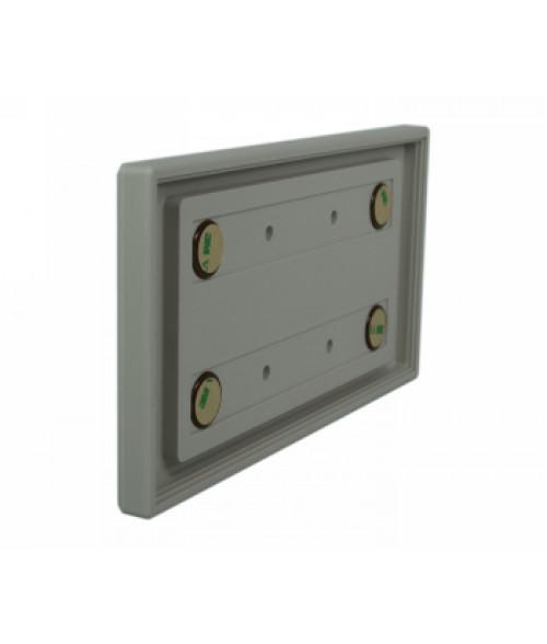 "Rowmark Portico Slate Grey 4"" x 8"" Square Poly Wall Frame"