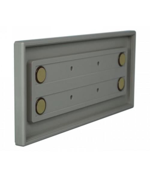 "Rowmark Portico Slate Grey 4"" x 10"" Square Poly Wall Frame"