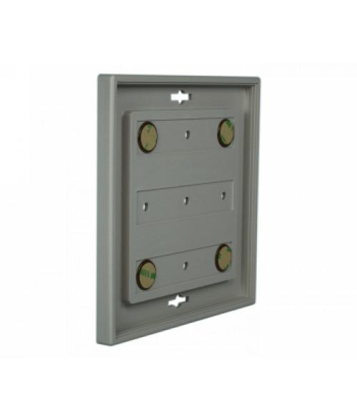 "Rowmark Portico Slate Grey 6"" x 6"" Square Poly Wall Frame"