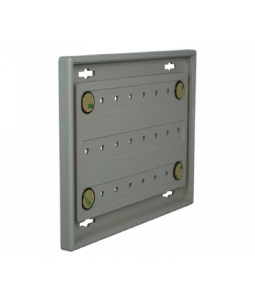 "Rowmark Portico Slate Grey 6"" x 8"" Square Poly Wall Frame"