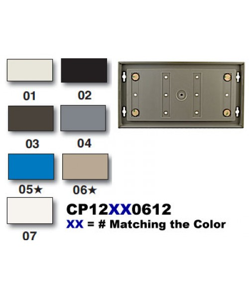 "Rowmark Portico Slate Grey 6"" x 12"" Square Poly Wall Frame"