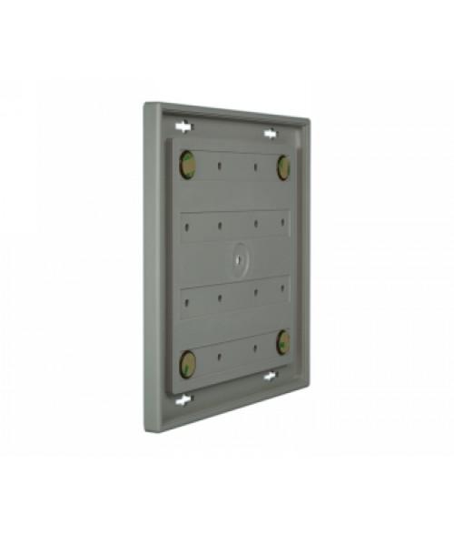 "Rowmark Portico Slate Grey 8"" x 8"" Square Poly Wall Frame"