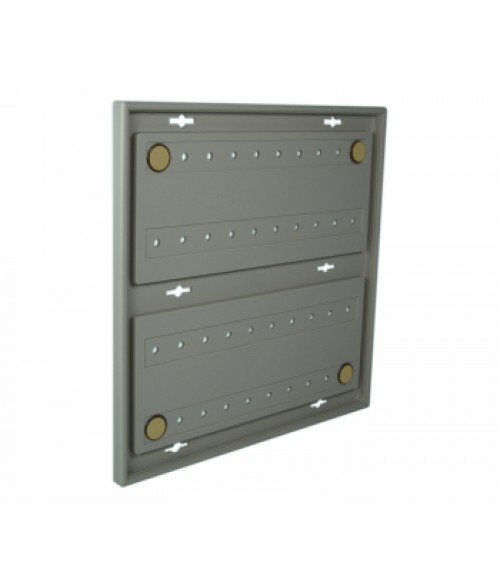 "Rowmark Portico Slate Grey 10"" x 10"" Square Poly Wall Frame"