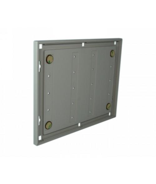 "Rowmark Portico Slate Grey 8-1/2"" x 11"" Square Poly Wall Frame"