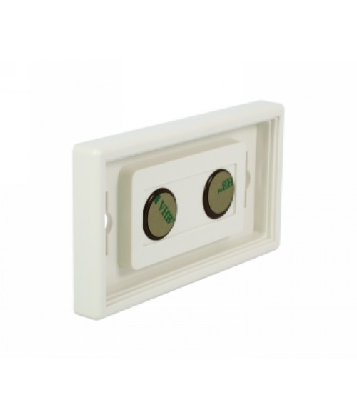 """Rowmark Portico Linen White 2"""" x 4"""" Square Poly Wall Frame"""