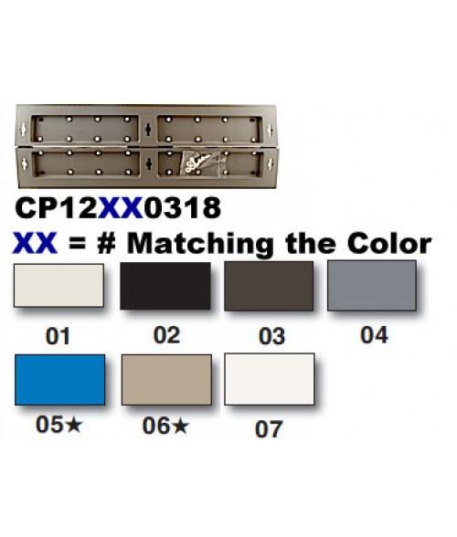"Rowmark Portico Linen White 3"" x 18"" Square Modular Directory Poly Frame Ends (2/Pkg)"