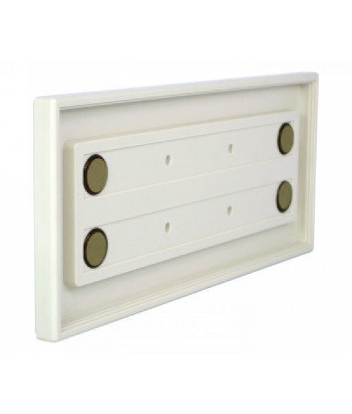 """Rowmark Portico Linen White 4"""" x 10"""" Square Poly Wall Frame"""