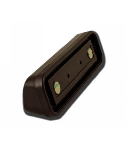 "Rowmark Portico Cocoa 2"" x 8"" Round Desk Poly Frame"