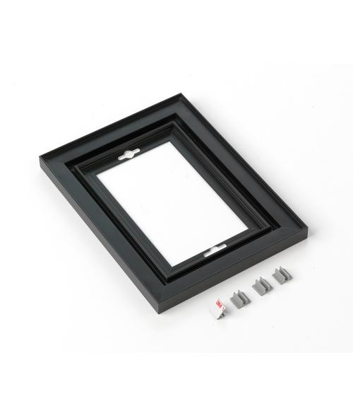 "Rowmark Streamline 100 Nighthawk Black 6"" x 8"" Assembled Metal Frame with 1/16"" Border"